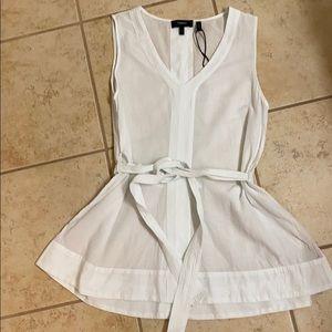 White theory blouse